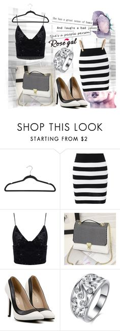 """black and white  !"" by mery-2601 ❤ liked on Polyvore featuring Smashbox and Le Fate"