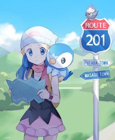Dawn y Piplup Pokemon Mew, Pokemon Fan Art, Pokemon Ships, Pokemon Images, Pokemon Pictures, Pokemon Soulsilver, Halloween Imagem, Manga, Pokemon People