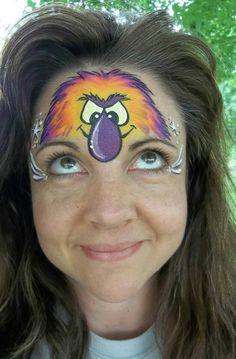 Face paint monster half face