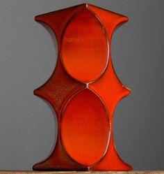 RETRO Vintage 60-70 s CARI ZALLONI for STEULER Figure W.German Fat Lava Vase Era