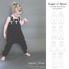 Was für ein Spaß Kleid und Strampler für Ihr kleines Mädchen! Dieses Muster ist für den Zucker nSpice Strampler und Kleid  Dieses Muster bietet zwei verschiedene Outfits aus einem vielseitigen Mieder  Das Strampler verfügt über ein schlanker geschnittene Körper als andere Harem-Stil Spielanzug für einen bequemen ohne zu viel überschüssiges Gewebe (ein moderneres Aussehen), schlanke passen Cross-over-Mieder, die abgenutzten reversibel sein kann, und mehrere Optionen Bein (gefängniss…