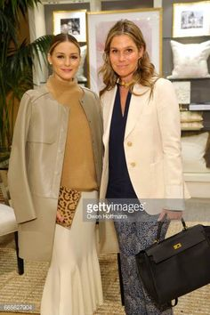 Olivia Palermo and Aerin Lauder attend The AERIN Collection by Williams Sonoma Launch Breakfast with Aerin Lauder at Williams Sonoma on April 6 Olivia Palermo Lookbook, Olivia Palermo Style, Aerin Lauder, Classic Chic, Minimal Classic, High Society, Celebrity Outfits, Contemporary Fashion, Jennifer Aniston