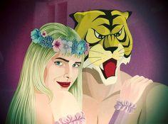 Uomo tigre + cicciolina