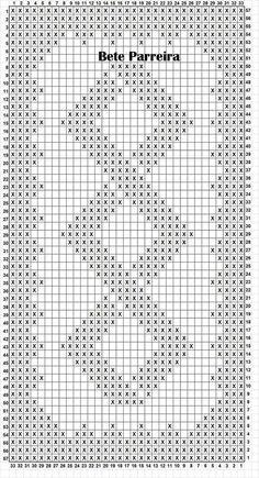 Gráficos Tapete de crochê Retangular