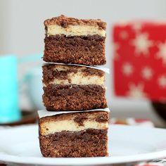 Tiramisu Cheesecake Brownies. Healthier, vegan and gluten free.