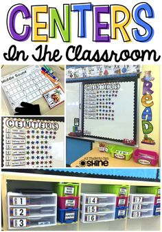 How to organize classroom centers. Great post!
