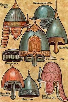 Russian helmets. Medieval Russia