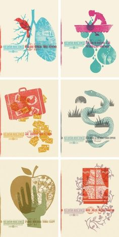 Nice 2 color poster series. by lizzie