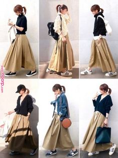 Fashion Tips Skirt Outfits Ulzzang Fashion, Hijab Fashion, Korean Fashion, Fashion Outfits, Womens Fashion, Cheap Fashion, Fashion Fashion, Fashion Tips, Midi Rock Outfit