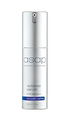 ASAP Radiance Serum: overnight serum to assist in the reduction of pigmentation, sun damage and acne skins.