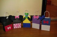 mickey & friends party bags by LadyandSonsPartyBags on Etsy, $25.00