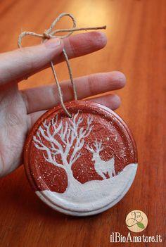 Da+coperchio+a+decorazione+per+l'albero+in+10+minuti