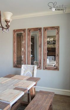 DIY Rustic Full Length Mirrors- shanty 2 chic