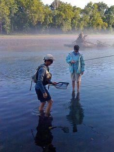 Fishing the James River in Springfield, Missouri