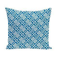 E by Design Leeward Key 18-inch Geometric Print Outdoor Pillow