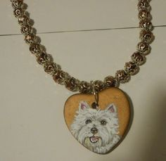 West Highland Terrier Westie Dog Beaded by daniellesoriginals