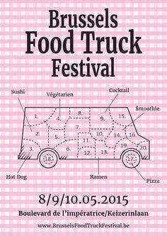 Brussels Food Truck Festival on Behance Food Truck Festival, Food Truck Design, Food Trucks, Brussels, Hot Dogs, Festivals, Ps, Sushi, Cocktails