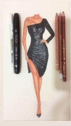 Fashion Model Sketch, Fashion Design Sketchbook, Fashion Design Drawings, Fashion Sketches, Fashion Drawing Tutorial, Fashion Figure Drawing, Fashion Drawing Dresses, Dress Illustration, Fashion Illustration Dresses