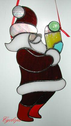 Père Noël/vitrail Tiffany 2