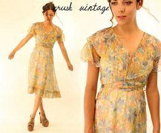 1930s chiffon dress