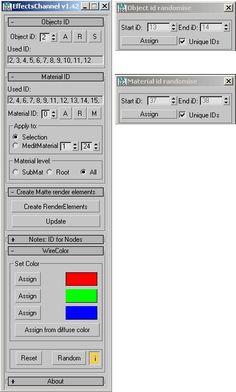 3ds Max скрипт для управления ID для материалов и объектов