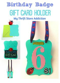 How to create a fun birthday badge gift card holder using dollar store crafts in just 15 minutes!