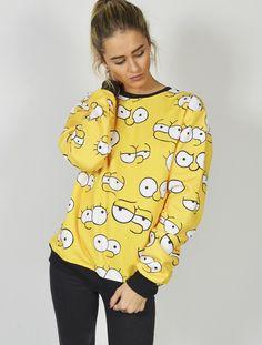 Sudadera con los ojos de la familia más famosa de la televisión Los Simpsons!  Compra online en nuestra web todas las sudaderas más originales y divertidas de la familia más gamberra y descarada del mundo de la animación: Los Simpsons llegan a Latiendajoven con modelos únicos y exclusivos para tí. #sudaderas #simpsons #ojos #carabart #homersimpsons #lisa #bartsimpsons #modajoven #tiendajoven #tiendaonline