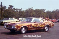 Loyed Woodland, driver of the Berejik Olds 442 W-30 @ Connecticut Dragway