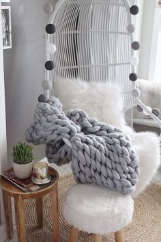 5 key accessories incorporated with hanging chair vignette