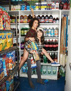 Abbi Jacobson and Ilana Glazer by Peter Yang