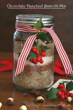 Holiday gift idea! Low carb, grain-free chocolate hazelnut biscotti mix. Your friends will thank you!