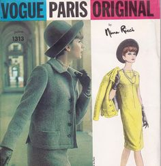 Vogue Paris Original Nina Ricci One Piece Dress and Jacket pattern from allthepreciousthings just in time for the cooler months.