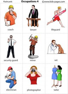 Jobs Flashcards ESL