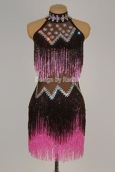 Beaded Crystal Costumes by Radim Lanik Dance Costumes Lyrical, Ballroom Costumes, Stage Outfits, Dance Outfits, Latin Ballroom Dresses, Ballroom Dancing, Salsa Dress, Figure Skating Dresses, Beautiful Costumes