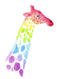 alice is wonderful Over The Rainbow, Love Rainbow, Rainbow Colors, Giraffe Drawing, Giraffe Art, 4 Wallpaper, Tumblr Wallpaper, Alice, Watercolor Artwork