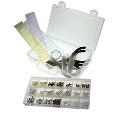 1000 Piece Large Deluxe Silver Plated Jewellery Making Kit in Clear Storage Case Set by Kurtzy TM Kurtzy http://www.amazon.co.uk/dp/B00O0IUEV8/ref=cm_sw_r_pi_dp_CKyCwb0H3QECC