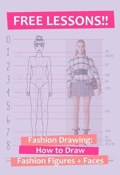 Free Fashion Drawing Lessons, Free Fashion Drawing Tutorial, Fashion Drawing Tutorials, Fashion Drawing Technique