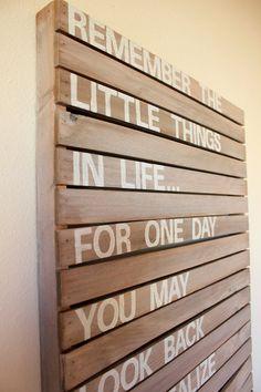 handmade wood inspiration sign