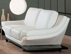 modern leather loveseats white sofa - White Leather Sofa