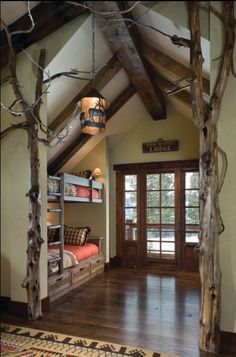LOVE this bunk room for when my nieces and nephews come to visit, which will be often.