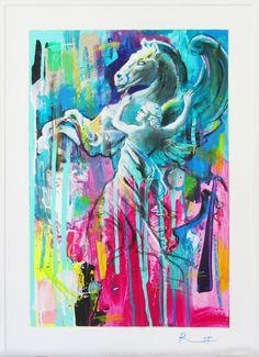 "Davide Ricchetti ""Pegasus"" , mixed media on canvas, 2016"