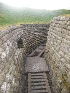 Vimy Ridge's reconstructed trenches (picture by Katie Williams, Home Pictures, Travel Pictures, Train Posters, House Pics, Calais, Great Vacations, World War One, France Travel, Wwi