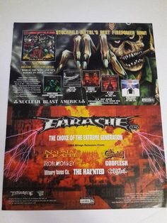 Earache Music Ad Stormraiders Of Death New Album Full Page Color