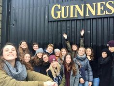 Some of our students at the Guinness Storehouse