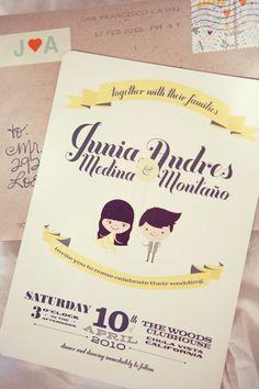 Awesome wedding invitation