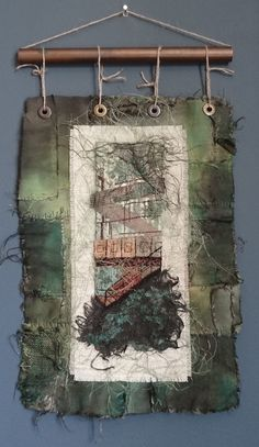 Visit www.ruthnorbury.com for more Art Base, Wall Hangings, Textile Art, Fiber Art, Ladder Decor, Stitches, Textiles, Artist, Design