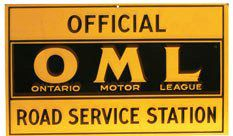 Service Station sign for Ontario Motor League.