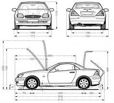 1997-Mercedes-SLK-Dimensions.jpg (612×557)