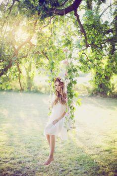 "Flowers and white dresses""so pretty' like the secret garden ""......."
