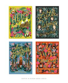 cover design and illustrations for Puffin Books' In Bloom series